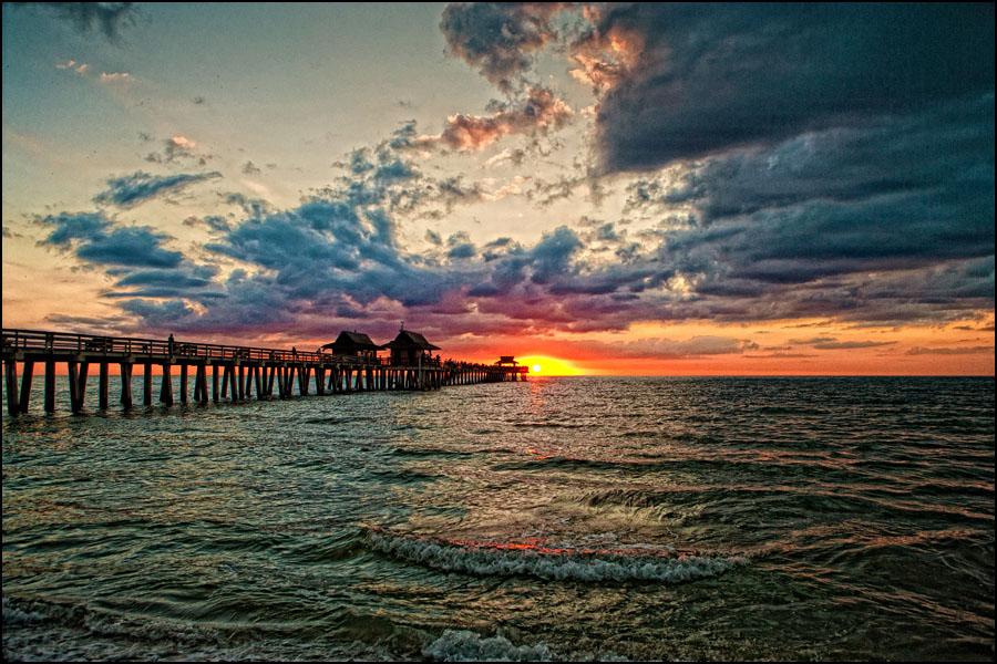 Engagement Session Photography Naples on Naples Florida Pier Sunset