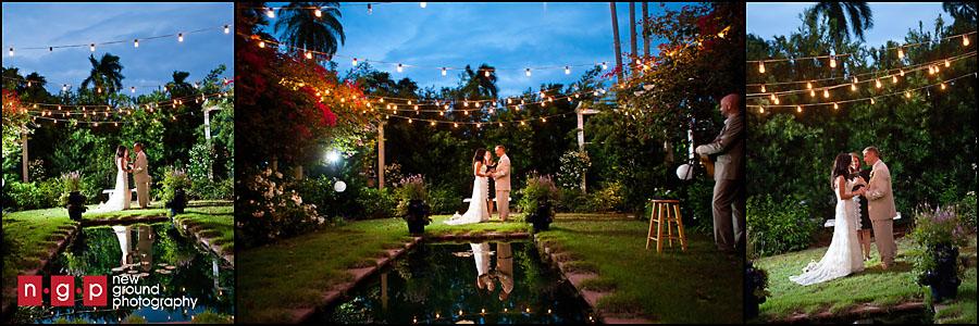 Edison ford winter estates wedding mara scott fort for Garden pool wedding