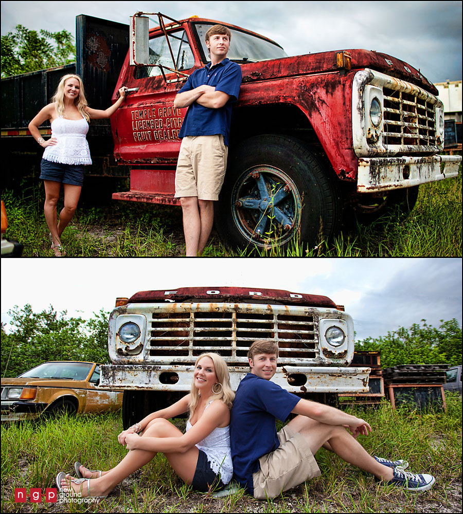 Old Trucks With The Couple