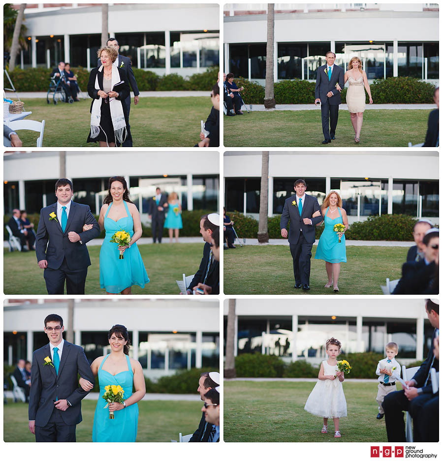 Beach Wedding Ceremony Processional: Naples Beach Hotel Wedding