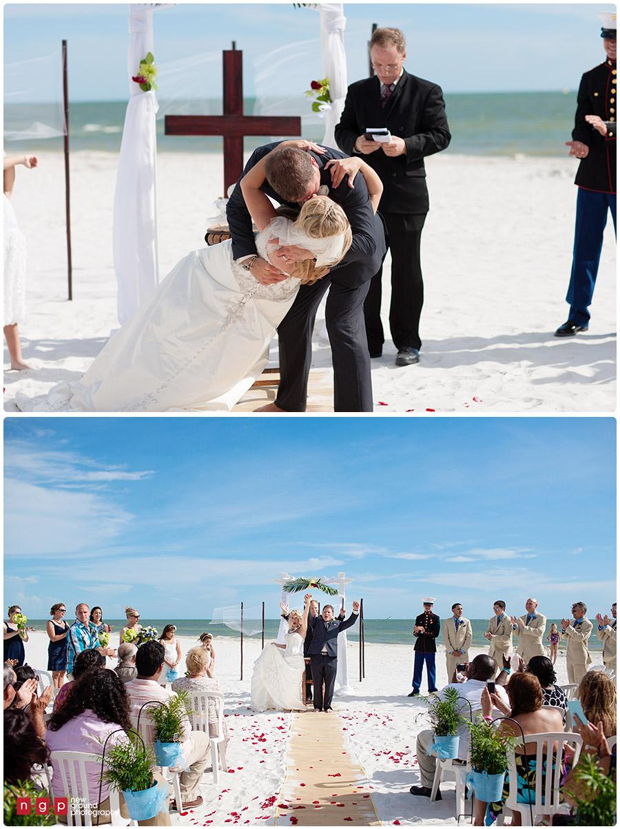 pink shell resort wedding tracy tony florida beach