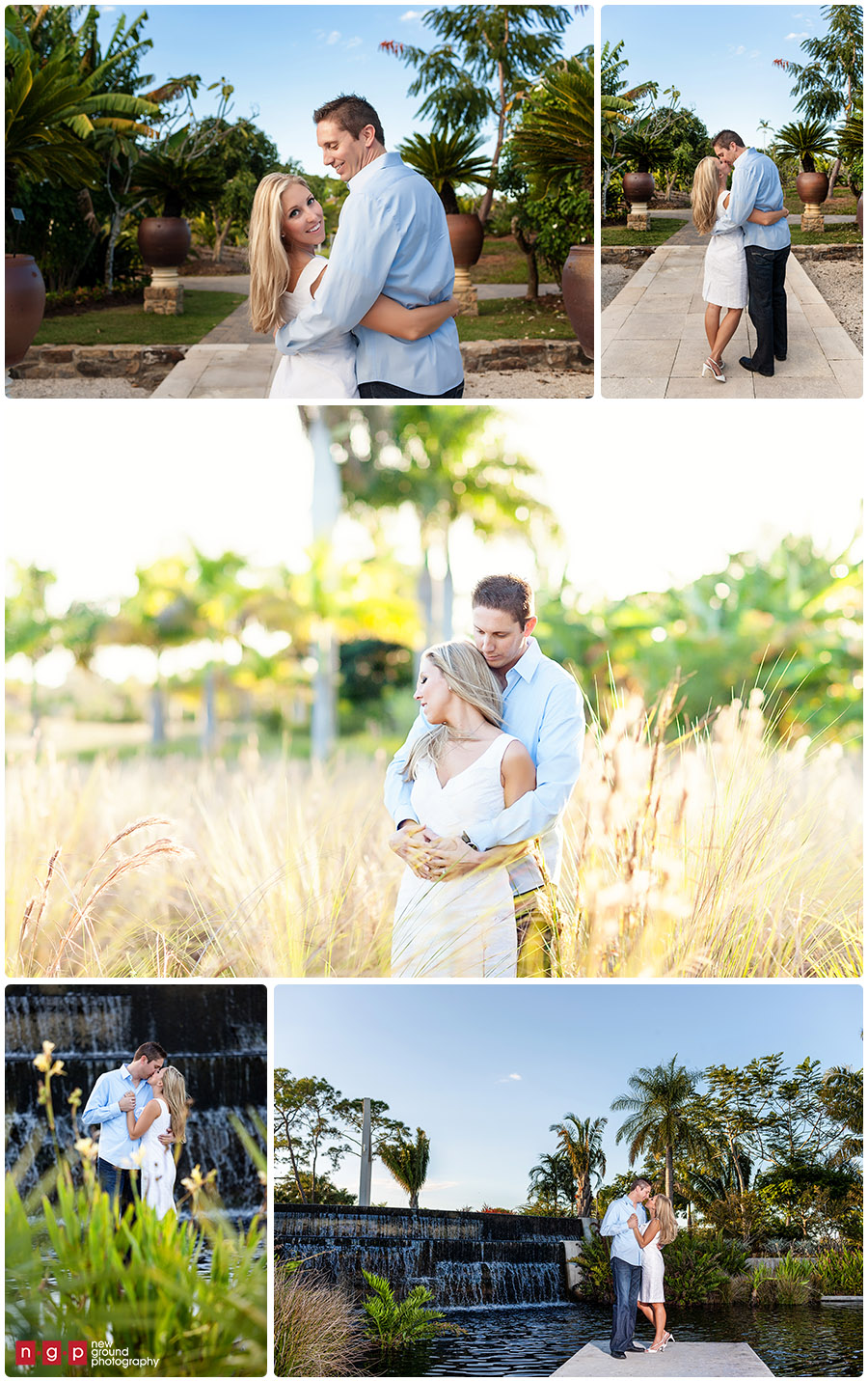 Naples Botanical Garden Engagement Session · Naples Engagement Photography