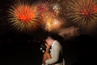 july 4th independence day wedding fireworks