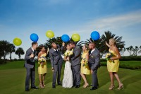 wedding party at quarry country club