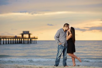 naples pier engagement session