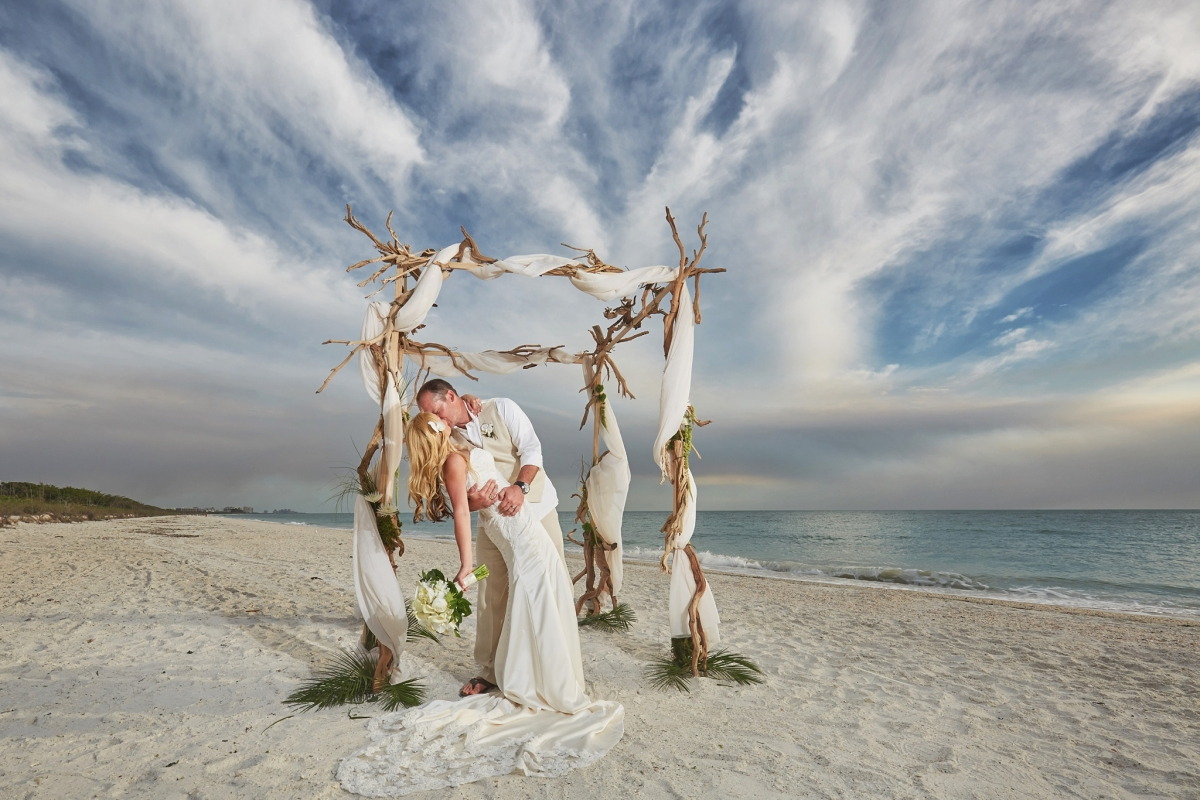 Barefoot Beach Wedding Valerie Patrick Naples