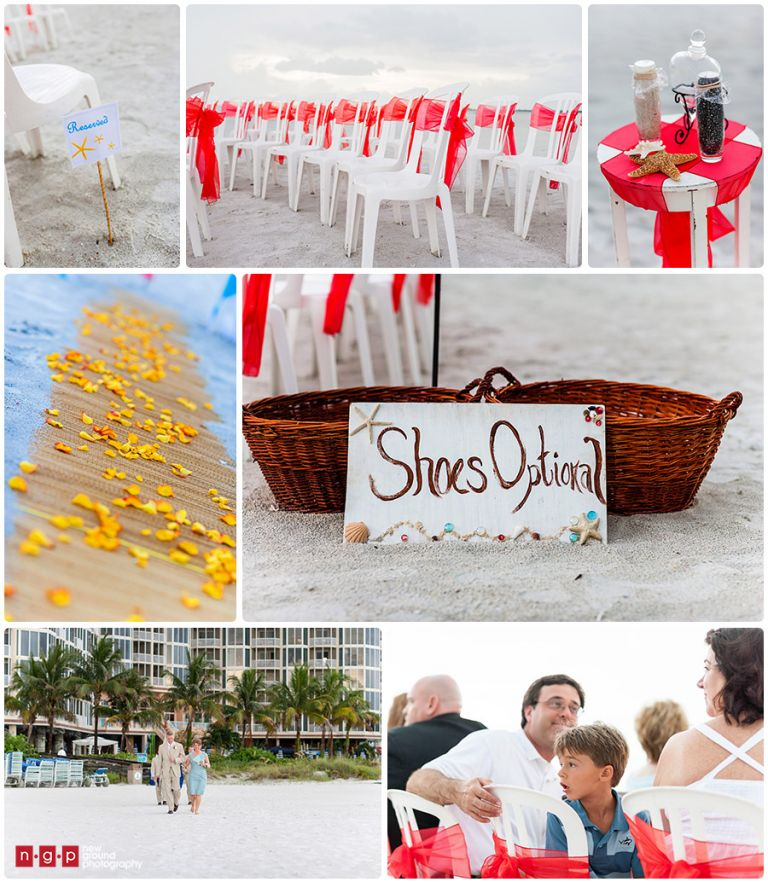 Beach Wedding Ceremony Michigan: Pink Shell Resort Wedding