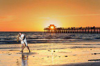 Posts Tagged Beach Sunset Naples Florida Wedding Portrait