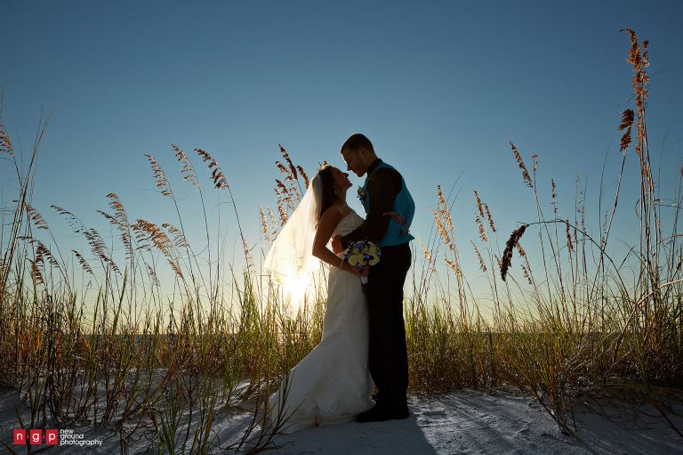 Pink Shell Wedding Melissa Alex Fort Myers Wedding