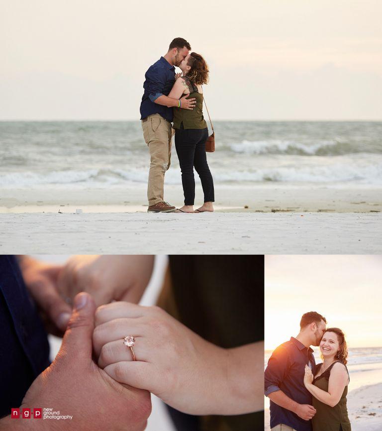 marriage proposal on marco island beach