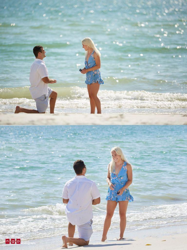 beach proposal photos