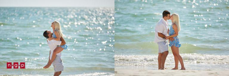 secret proposal on the beach